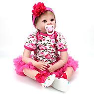 Χαμηλού Κόστους Home-NPK DOLL Κούκλες σαν αληθινές Παιδιά 22 inch Σιλικόνη / Βινύλιο - όμοιος με ζωντανό, Χειροποίητες βλεφαρίδες, Στυμμένα και σφραγισμένα νύχια Παιδικά Δώρο / CE / Φυσικός τόνος δέρματος