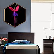 baratos Quadros com Moldura-Botânico Floral/Botânico Ilustração Arte de Parede,Plástico Material com frame For Decoração para casa Arte Emoldurada Sala de Estar