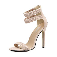 cheap Women's Sandals-Women's Shoes Leatherette Summer Fall Comfort Novelty Light Soles Club Shoes Sandals Stiletto Heel Hollow-out for Wedding Athletic Casual