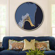baratos Quadros com Moldura-Abstrato Paisagem Ilustração Arte de Parede,Plástico Material com frame For Decoração para casa Arte Emoldurada Sala de Estar