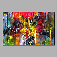 Hand Painted Abstract Horizontal, Modern Canvas Oil Painting Home Decoration  One Panel