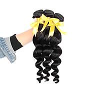 Cabelo Brasileiro Ondulação Larga Tramas de cabelo humano 3pçs Cabelo Humano Ondulado
