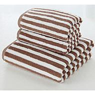 tanie Ręcznik kąpielowy-Świeży styl Ręcznik kąpielowy, Prążki Najwyższa jakość Poly / Cotton Poliester Blend Ręcznik