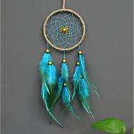 Χαμηλού Κόστους Ονειροπαγίδα-Wall Διακόσμηση Φτερό/Γούνα Ποιμενικό Wall Art, Ονειροπαγίδα του 1