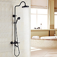 cheap Shower Faucets-Antique Centerset Handshower Included Ceramic Valve Two Handles Two Holes Oil-rubbed Bronze, Shower Faucet