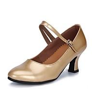 billige Moderne sko-Dame Moderne sko Kunstlær Høye hæler Tykk hæl Kan spesialtilpasses Dansesko Svart / Sølv / Rød
