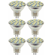 billige Spotlys med LED-SENCART 6pcs 5W / 80W 260lm MR11 LED-spotpærer MR11 15 LED perler SMD 5060 Dekorativ Varm hvit / Kjølig hvit 12V