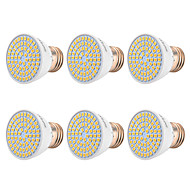 billige Spotlys med LED-YWXLIGHT® 6pcs 7W 500-700 lm E26/E27 LED-spotpærer 72 leds SMD 2835 Varm hvit Kjølig hvit Naturlig hvit 110-130V 220V-240V