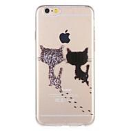 billiga Mobil cases & Skärmskydd-fodral Till Apple iPhone 8 / iPhone 7 Mönster Skal Katt / Tecknat Mjukt TPU för iPhone 8 Plus / iPhone 8 / iPhone 7 Plus