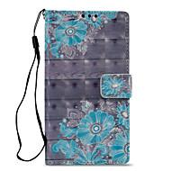 billiga Mobil cases & Skärmskydd-fodral Till Sony Xperia L2 Xperia XZ2 Korthållare Plånbok med stativ Lucka Mönster Fodral Blomma Hårt PU läder för Xperia XA2 Xperia XZ2