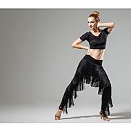 Latinské tance Spodní část oděvu Dámské Trénink Výkon Süt Filtresi Třásně Přírodní Kalhoty