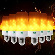 billige Globepærer med LED-YWXLIGHT® 6pcs 5W 400-500lm E26 / E27 E12 / E14 B22 LED-globepærer T 99 LED perler SMD 3528 Flamme Flimrende Dekorativ Varm Gul 85-265V