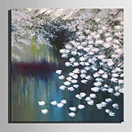 billiga Blom-/växtmålningar-Hang målad oljemålning HANDMÅLAD - Abstrakt Blommig / Botanisk Moderna Duk