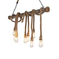 billige -8-hoved 100cm vintage hamp reb med bambus vedhæng lys loft kreative stue restaurant tøj butik lampe
