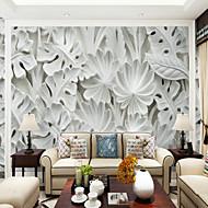 billige Tapet-Trær/blader Art Deco 3D Hjem Dekor Klassisk Moderne Tapetsering, Lerret Materiale selvklebende nødvendig Veggmaleri, Tapet