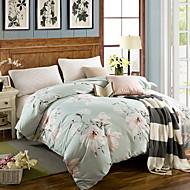 tanie Floral Duvet Okładki-Jasnoniebieski Kwiaty 1 sztuka Poly / Cotton 100% bawełna Żakard Poly / Cotton 100% bawełna 1szt kołdrę
