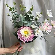 billige Kunstig Blomst-Kunstige blomster 4.0 Afdeling Rustikt / Brudebuketter Solsikke / Planter / Krysantemum Bordblomst