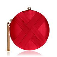baratos Clutches & Bolsas de Noite-Mulheres Bolsas Seda Bolsa de Festa Botões / Mocassim Rosa / Roxo / Verde Escuro