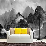 billige Tapet-Art Deco 3D Stein Hjem Dekor Vintage Moderne Tapetsering, Lerret Materiale selvklebende nødvendig Veggmaleri, Tapet