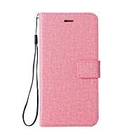 billiga Mobil cases & Skärmskydd-fodral Till HTC U11 Korthållare Plånbok med stativ Lucka Fodral Ensfärgat Hårt PU läder för HTC U11