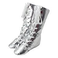 billige Jazz-sko-Jazz-sko Kunstlær Flate Flat hæl Kan spesialtilpasses Dansesko Gull / Sølv / Innendørs