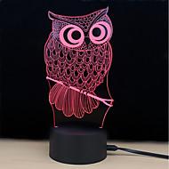 billige Lamper-1set 3D nattlys DC-drevet Stress og angst relief / Fargeskiftende / Med USB-port 5 V