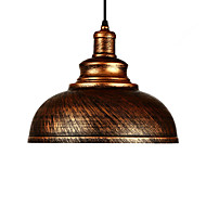 Diámetro 29 cm luces colgantes de época 1-luz metal sombra salón comedor iluminación de pasillo