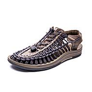 baratos Sapatos Masculinos-Homens spandex Primavera / Verão Conforto Sandálias Marron / Vermelho / Azul