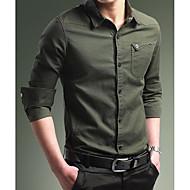 Tynd Herre - Ensfarvet, Basale Vintage Skjorte