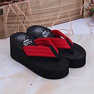 baratos Sapatos Femininos-Mulheres Sapatos PVC Verão Chinelos e flip-flops Plataforma Preto / Vermelho