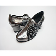 """billige Moderne sko-Dame Moderne Tyll Fuskelær Netting Hel såle Trening Blomst Tykk hæl Svart Mørkegrå 1 """"- 1 3/4"""" Kan spesialtilpasses"""