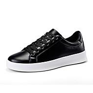 baratos Sapatos Masculinos-Homens Couro Ecológico Primavera / Outono Conforto Mocassins e Slip-Ons Aventura Preto / Branco