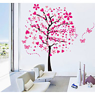 cheap Wall Stickers-Abstract Floral/Botanical Wall Stickers Plane Wall Stickers Animal Wall Stickers Decorative Wall Stickers, Paper Home Decoration Wall