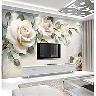 olcso -világos rózsaszín rózsa egyedi 3d nagy falburkoló falfestmény tapéta illik étterem tv háttér virág
