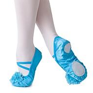 billige Ballettsko-Ballettsko Silke Flate Flat hæl Kan spesialtilpasses Dansesko Beige / Blå / Trening