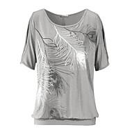 economico Top da donna-T-shirt Per donna Vintage Fantasia geometrica