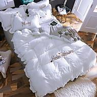 billige Moderne dynetrekk-Sengesett Hjerte Moderne 4 deler Polyester/Bomull 100% bomull Reaktivt Trykk Polyester/Bomull 100% bomull 1stk Dynetrekk 2stk Trekk 1stk