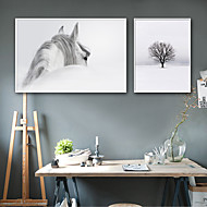 cheap Framed Arts-Landscape Animals Illustration Wall Art, Plastic Material With Frame For Home Decoration Frame Art Living Room