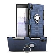 billiga Mobil cases & Skärmskydd-fodral Till Sony Xperia XA1 Stötsäker / Ringhållare / 360-graders rotation Skal Enfärgad Hårt PC för Sony Xperia XA1
