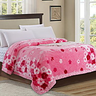 cheap Blankets & Throws-Coral fleece, Printed Floral Cotton/Polyester Polyester Blankets