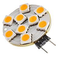 cheap LED Bulbs-SENCART 1pc 1.5W 270 lm G4 LED Bi-pin Lights T 9 leds SMD 5050 Decorative Warm White DC 12V
