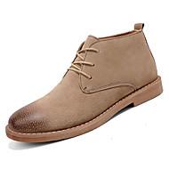 お買い得  メンズオックスフォードシューズ-男性用 靴 レザー 春 / 冬 コンフォートシューズ オックスフォードシューズ ブラック / ダークブラウン / カーキ色