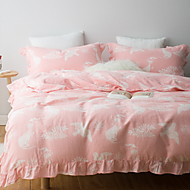 cheap Contemporary Duvet Covers-Duvet Cover Sets Embellished&Embroidered 4 Piece Poly/Cotton 100% Cotton Printed Poly/Cotton 100% Cotton 1pc Duvet Cover 2pcs Shams 1pc