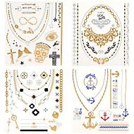 billiga Temporära tatueringar-4 Mönster Vattentät Smyckeserier Totemserier Tatueringsklistermärken
