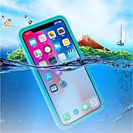 billiga Mobil cases & Skärmskydd-fodral Till Apple iPhone X Vattentät / Stötsäker / Genomskinlig Fodral Ensfärgat Hårt Plast för iPhone X