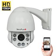 billige Utendørs IP Nettverkskameraer-secuplug utendørs 2.0mp 1080p hastighet kuppel ir ip ptz kamera med 10x optisk zoom og 100-150ft nattesyn onvif støttes