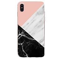 billiga Mobil cases & Skärmskydd-fodral Till Apple iPhone X / iPhone 8 Ultratunt / Mönster Skal Geometriska mönster / Marmor Mjukt TPU för iPhone X / iPhone 8 Plus / iPhone 8