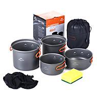 cheap Camp Kitchen-Naturehike Camping Pot Camping Cookware Mess Kit Sets Portable Aluminium alloy for Camping / Hiking Camping BBQ Picnic