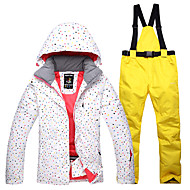 voordelige Wintersporten-Dames Ski-jack & broek Winddicht, waterdicht, Warm Skiën Katoen Winterjack / Snow Bib Pants Skikleding