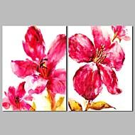 billiga Blom-/växtmålningar-Hang målad oljemålning HANDMÅLAD - Abstrakt Blommig / Botanisk Klassisk Duk